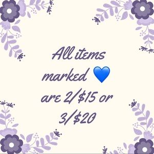 Other - 💙 2/$15 or 3/$20